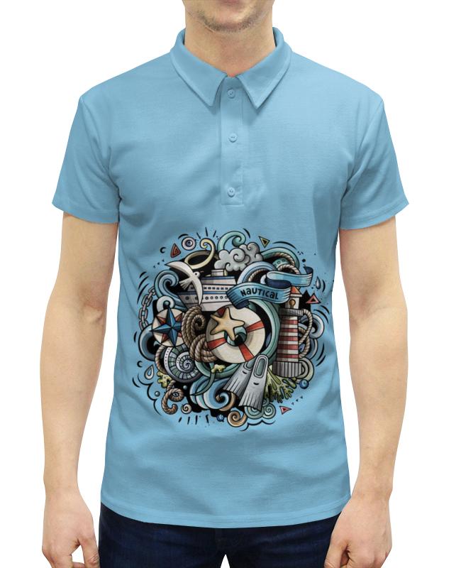 Рубашка Поло с полной запечаткой Printio Морское отсутствует морское наследие 2 2013