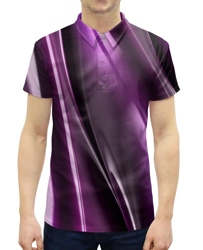 Рубашка Поло с полной запечаткой Printio Фиолетовые линии рубашка поло с полной запечаткой printio оранжевые линии