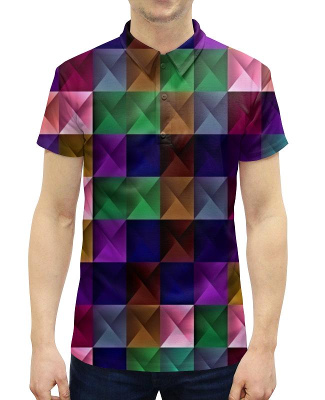 Рубашка Поло с полной запечаткой Printio Кубики рубашка поло printio фк нефтехимик