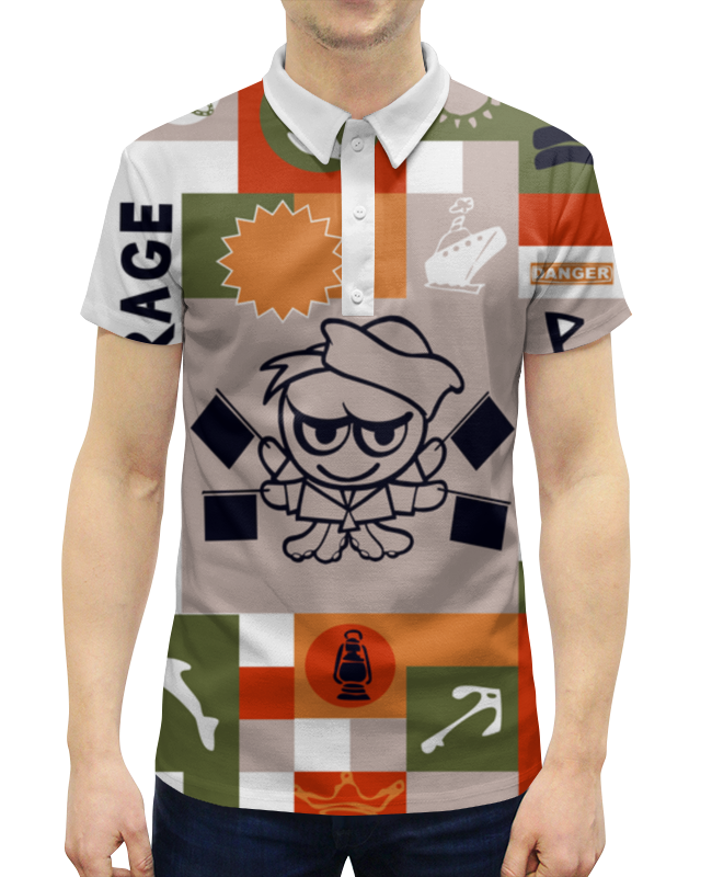 Рубашка Поло с полной запечаткой Printio Боцман эксмо боцман мины по флотски