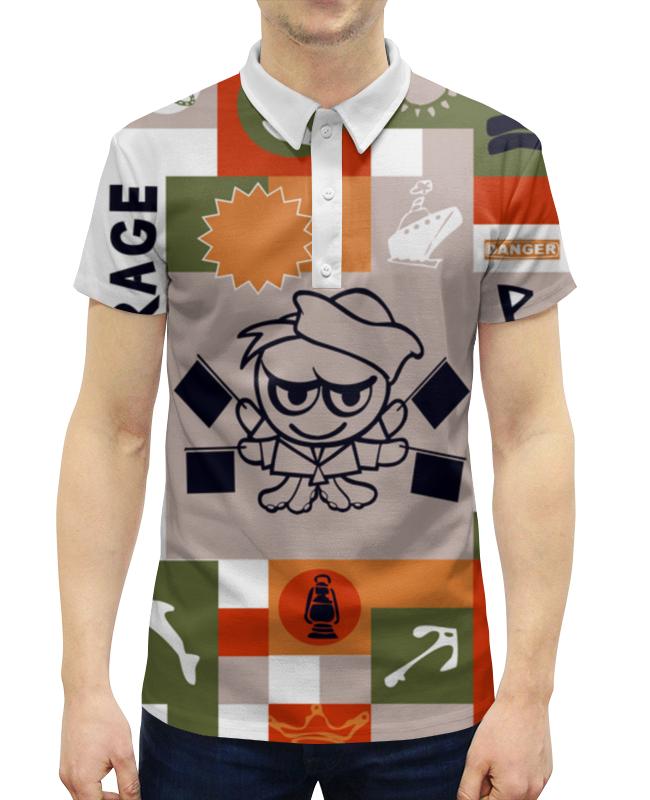 Рубашка Поло с полной запечаткой Printio Боцман нокс боцман