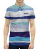 """Рубашка Поло с полной запечаткой """"волны"""" - абстракция, купить, поло, разноцветная, мужскую футболку"""