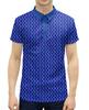 """Рубашка Поло с полной запечаткой """"Синий пейсли, мужской орнамент"""" - узор, орнамент, растения, индийский, пейсли"""
