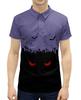 """Рубашка Поло с полной запечаткой """"Взгляд оттуда"""" - хэллоуин, рисунок, взгляд, летучие мыши, кладбище"""
