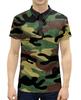 """Рубашка Поло с полной запечаткой """"Камуфляж"""" - армия, камуфляж, военный"""