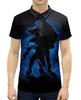 """Рубашка Поло с полной запечаткой """"Sonic"""" - игра, фильм, соник, боевик"""