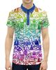 """Рубашка Поло с полной запечаткой """"UFO Style"""" - абстракция, инопланетяне, ufo, арт дизайн, пришелцы"""