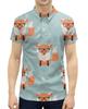 """Рубашка Поло с полной запечаткой """"Лисички"""" - животные, очки, лиса, лисички"""