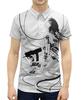 "Рубашка Поло с полной запечаткой ""Призрак в доспехах"" - фильм, аниме, призрак в доспехах, ghost in the shell, мотоко кусанаги"