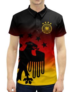 """Рубашка Поло с полной запечаткой """" Сборная Германии"""" - команда германии, сборная германии, футбол, германия, сборная германии по футболу"""