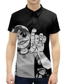"""Рубашка Поло с полной запечаткой """"Gorillaz"""" - gorillaz, гориллаз, музыка, группы"""
