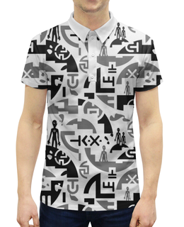 """Рубашка Поло с полной запечаткой """"UFO Style"""" - фантастика, инопланетяне, ufo, пришельцы, арт дизайн"""