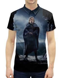 """Рубашка Поло с полной запечаткой """"Звездные войны - Люк Скайуокер"""" - кино, фантастика, star wars, звездные войны, дарт вейдер"""