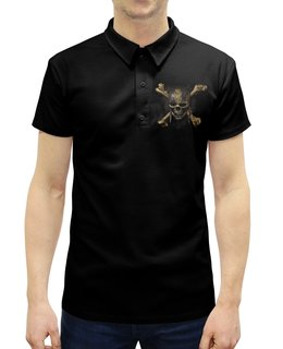 """Рубашка Поло с полной запечаткой """"Пираты Карибского моря"""" - череп, кости, кино, пират, пираты карибского моря"""