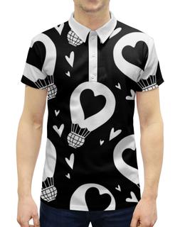 """Рубашка Поло с полной запечаткой """"День Св. Валентина"""" - сердца, валентинка, день св валентина"""