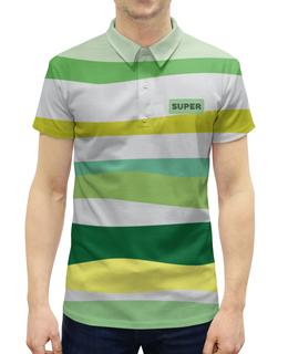 """Рубашка Поло с полной запечаткой """"тропическая волна"""" - абстракция, купить, поло, трикотаж, мужскую футболку"""