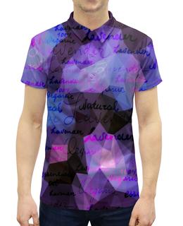"""Рубашка Поло с полной запечаткой """"Надписи"""" - надписи, знаки, слова, символы, буквы"""