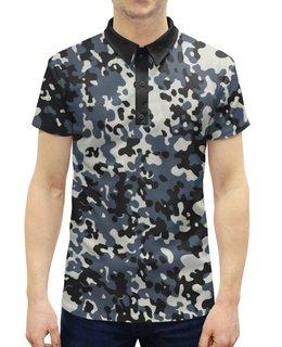 """Рубашка Поло с полной запечаткой """"Камуфляж 1"""" - расцветка, военный, узор, защитка, камуфляж"""