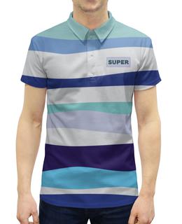 """Рубашка Поло с полной запечаткой """"волны"""" - абстракция, купить, разноцветная, поло, мужскую футболку"""