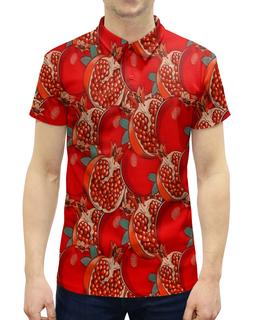 """Рубашка Поло с полной запечаткой """"Гранат"""" - еда, ягоды, фрукт, гранат, плоды"""