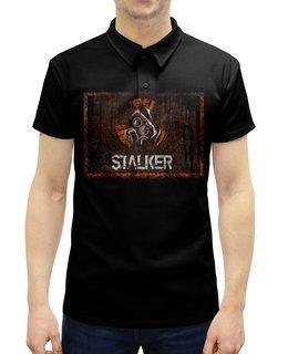 """Рубашка Поло с полной запечаткой """"Сталкер"""" - кино, сериал, сталкер, чернобыль, зона отчуждения"""