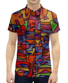 """Рубашка Поло с полной запечаткой """"nj2]0-=-.'11"""" - арт, узор, абстракция, фигуры, текстура"""