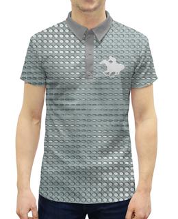 """Рубашка Поло с полной запечаткой """"Abstraction 3D"""" - лошадь, хобби, увлечение, поло, конный спорт"""