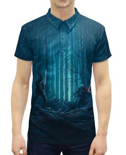 """Рубашка Поло с полной запечаткой """"Звездные войны"""" - звездные войны, фантастика, кино, дарт вейдер, star wars"""