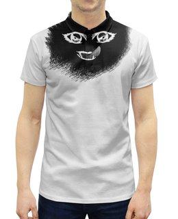 """Рубашка Поло с полной запечаткой """"Darkness"""" - арт, ужас, глаза, тёмный, рот"""