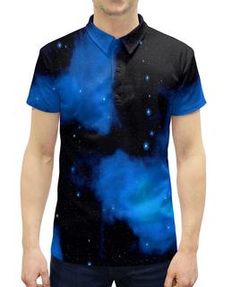 """Рубашка Поло с полной запечаткой """"Звездное небо"""" - звезды, космос, небо, вселенная, вспышки"""