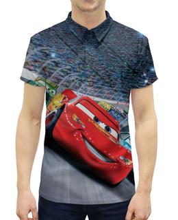 """Рубашка Поло с полной запечаткой """"Тачки"""" - мультфильм, дисней, машина, тачки, молния"""