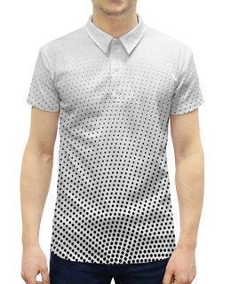 """Рубашка Поло с полной запечаткой """"Взрыв точек"""" - арт, стиль, абстракция"""