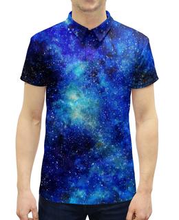 """Рубашка Поло с полной запечаткой """"Космос"""" - space, космос, космический, cosmos, galaxy"""