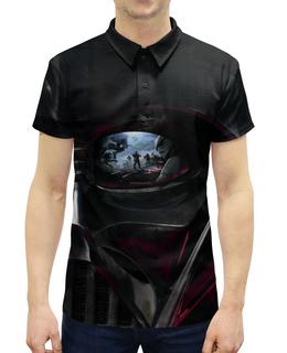 """Рубашка Поло с полной запечаткой """"Дарт Вейдер"""" - кино, фантастика, star wars, звездные войны, дарт вейдер"""