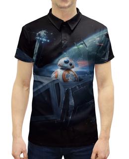 """Рубашка Поло с полной запечаткой """"Star Wars"""" - фантастика, star wars, звездные воины, империя, джедай"""
