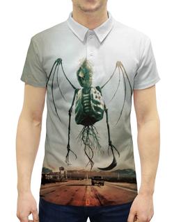 """Рубашка Поло с полной запечаткой """"Монстры Юга"""" - череп, рок, скелет, смерть, ужасы"""