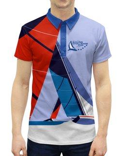 """Рубашка Поло с полной запечаткой """"Regatta"""" - мужчине, яхта, парусный спорт, регатта, спортсменам"""