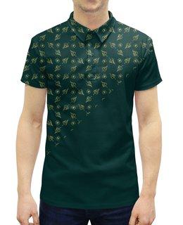 """Рубашка Поло с полной запечаткой """"Haya means life"""" - золото, ислам, орнамент, паттерн, ближний восток"""