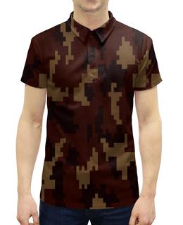 """Рубашка Поло с полной запечаткой """"армия"""" - форма, камуфляж, военные, защитник, маскировка"""