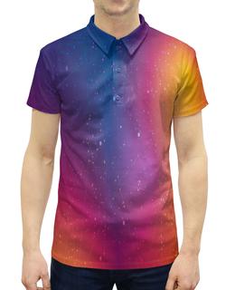 """Рубашка Поло с полной запечаткой """"Созвездия"""" - звезды, космос, небо, краски, созвездия"""