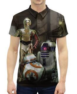 """Рубашка Поло с полной запечаткой """"Star Wars"""" - кино, фантастика, star wars, звездные войны, дарт вейдер"""