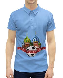 """Рубашка Поло с полной запечаткой """"Футбол"""" - футбол, спорт, мяч, 2018"""