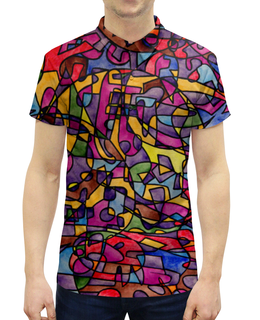 """Рубашка Поло с полной запечаткой """"rrg`90`90=-="""" - арт, узор, абстракция, фигуры, текстура"""