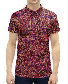 """Рубашка Поло с полной запечаткой """"Карамель."""" - арт, узор, абстракция, фигуры, текстура"""
