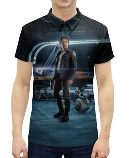 """Рубашка Поло с полной запечаткой """"Звездные войны - По Дамерон"""" - кино, фантастика, star wars, звездные войны, дарт вейдер"""
