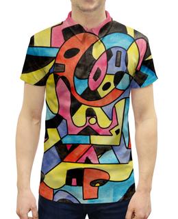 """Рубашка Поло с полной запечаткой """"ttt`12ll"""" - арт, узор, абстракция, фигуры, текстура"""