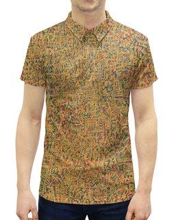 """Рубашка Поло с полной запечаткой """"Сандал"""" - арт, узор, абстракция, фигуры, текстура"""