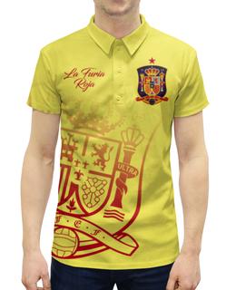 """Рубашка Поло с полной запечаткой """"Сборная Испании"""" - команда испании, сборная испании по футболу, испания, футбол, сборная испании"""