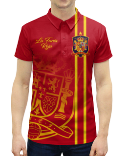 """Рубашка Поло с полной запечаткой """"Сборная Испании"""" - футбол, испания, сборная испании, сборная испании по футболу, команда испании"""