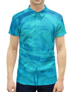 """Рубашка Поло с полной запечаткой """"Юрий Гагарин"""" - космос, летчик, космонавт, гагарин, полет"""